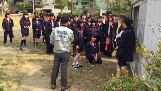 片倉高校防災訓練