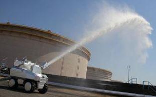 消防ロボット「放水砲ロボット ウォーター・キャノン」(市原市資料より)