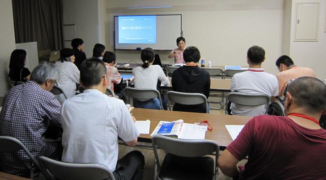 190625 1 障がい者の防災について語る萩野氏の講演模様 - 「障がい者の防災について」 学んだ課題をからだで検証する