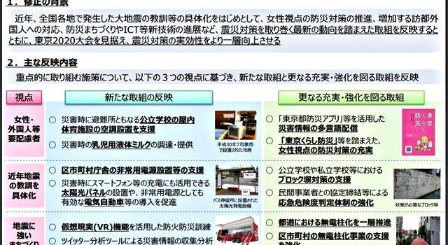 東京都地域防災計画-震災編(令和元年修正)の概要より