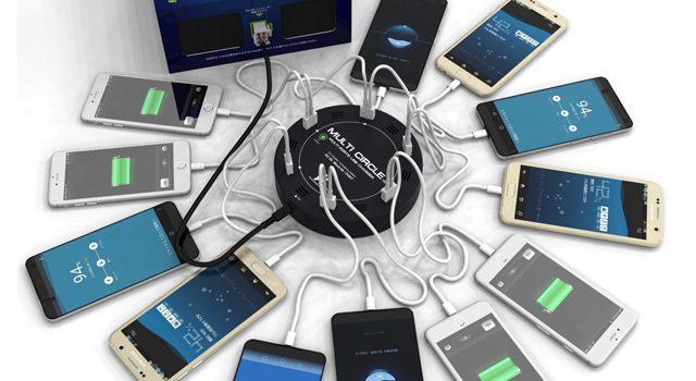 携帯電話なら最大50台のフル充電