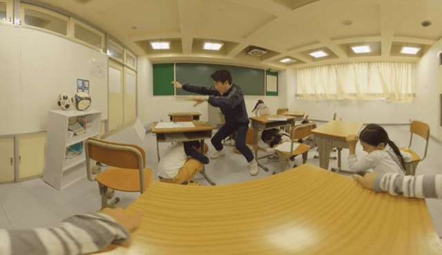 P6 1c 防災体験車での屋内ARイメージ - ジョリーグッド:VR地震体験車を販売開始