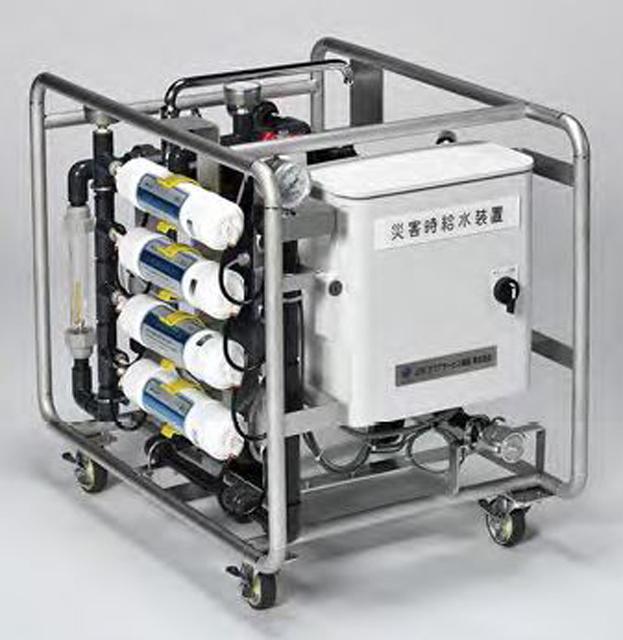P6 1a 「水姫」はコンパクト&シンプル。電源は家庭用コンセントで可。 - JFE:非常用コンパクト浄水装置『水姫』を発売
