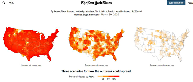 NEW-YORK-TIMES「Coronavirus-Could-Overwhelm-U.S.-Without-Urgent-Action」より