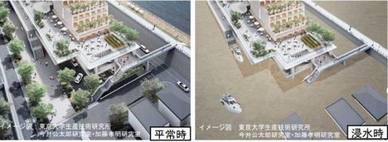 東京都葛飾区の「浸水対応型市街地構想」より