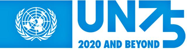 P6 3 国連創設75周年ロゴ - 10月13日は「国際防災の日」、<br>2020年は「国連創設75周年」