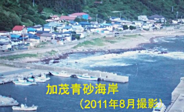 P3 1a 男鹿半島の加茂青砂海岸(写真:伊藤和明氏提供) - 「稲むらの火」と防災教育