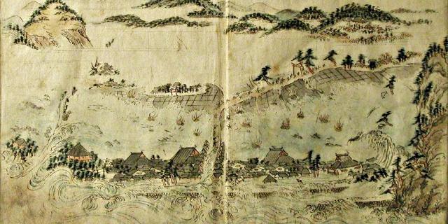 P3 1b 広村を襲う安政南海地震津波(1854年) - 「稲むらの火」と防災教育