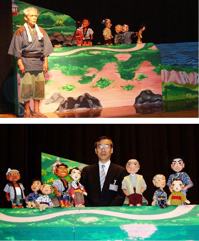 P4 4 『人形劇・稲むらの火』静岡公演で - 「稲むらの火」と防災教育