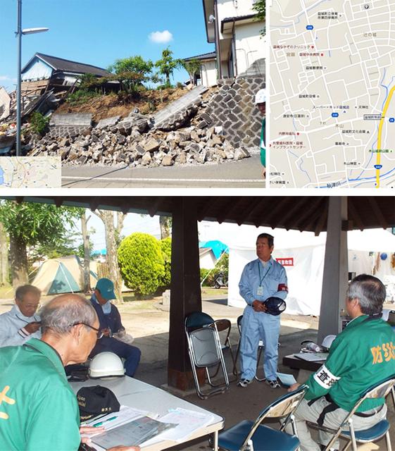 P2 2 熊本地震で益城町に日本防災士会が支援拠点を設置 - 全国の防災士 20万人を超える。<br>30万を展望し、次のステップへ