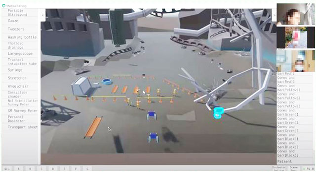 P3 2 仮想訓練ソフト「カワウチ・レジェンズ」(Mark on資料より) - 厚岸町津波シミュレーション<br>/原子力災害仮想訓練