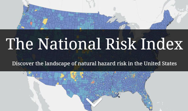 P6 1 FEMA NATIONAL RISK INDEX(FEMA HPより) - FEMAが<br>「ナショナル・リスク・インデックス(NRI)」<br>を公表
