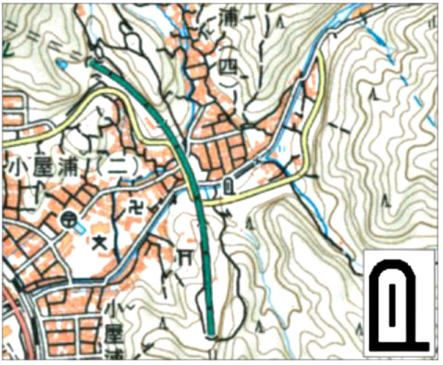 P5 3 国土地理院「自然災害伝承碑」の表示イメージ(2万5千分1地形図の例) - 「ひかり拓本」データベース<br>プロジェクト