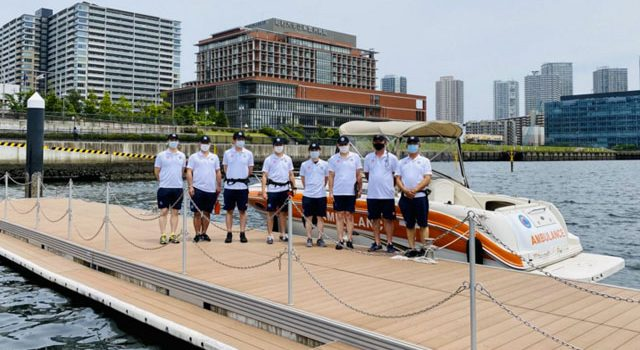 P3 0 5月26日救急艇披露で(MHI HPより) 640x350 - 救急艇で救急搬送 オリパラに備えて